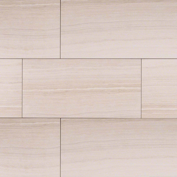 "MS International Eramosa: White 12"" x 24"" Porcelain Tile NERAWHI1224"