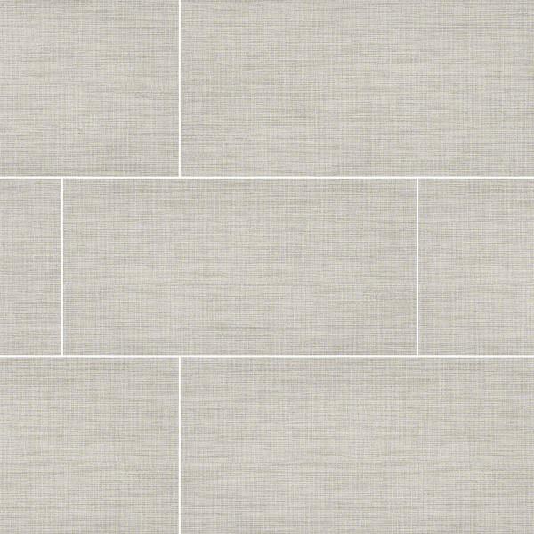 "MS International TekTile: Lineart Ivory 12"" x 24"" Porcelain Tile NTEKLINIVO1224"