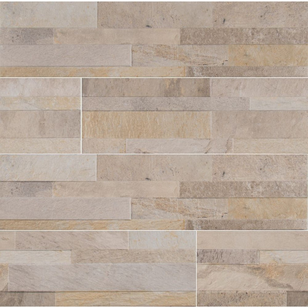 MS International Stacked Stone Series: Canyon Cream 6X24 Matte Ledger Panel NCANCRE6X24