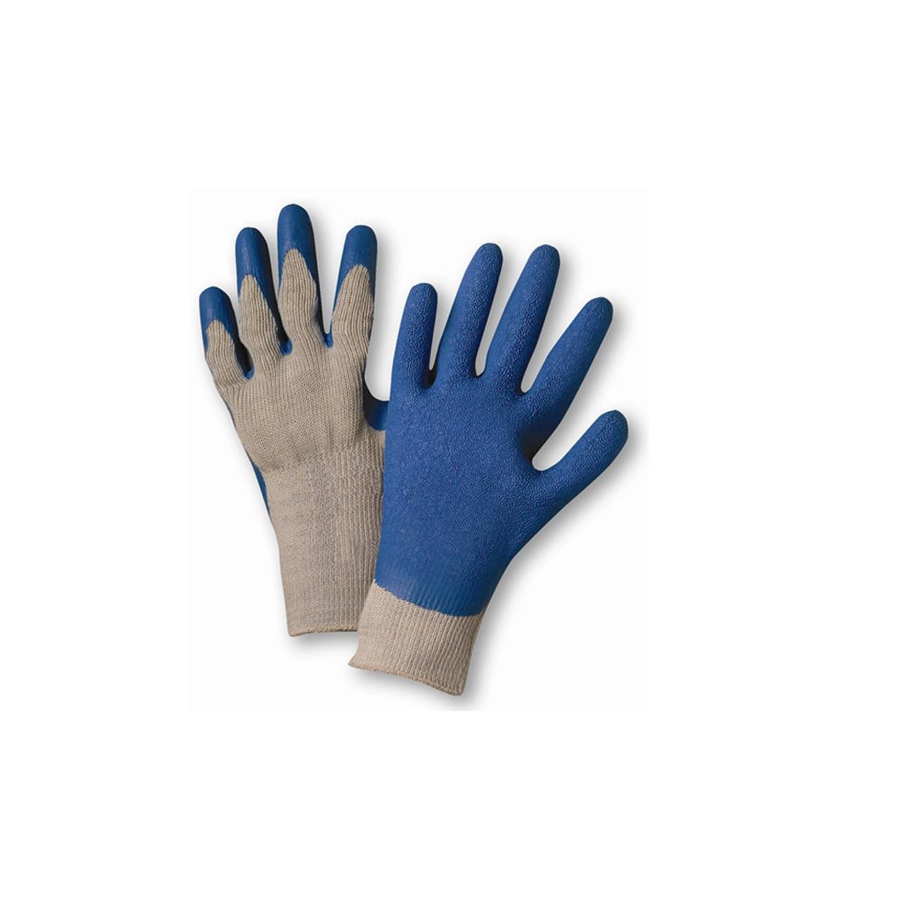 Case of Gloves - Black/Blue Latex Palm Coated - 12 Dozen
