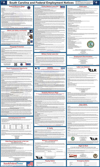 """Poster size 24"""" x 40"""" (Custom Sizes, only $1 extra per poster) Front and back sides are laminated Quality printing in full color Attorney Approved Made in USA Poster content is guaranteed to be up-to-date"""