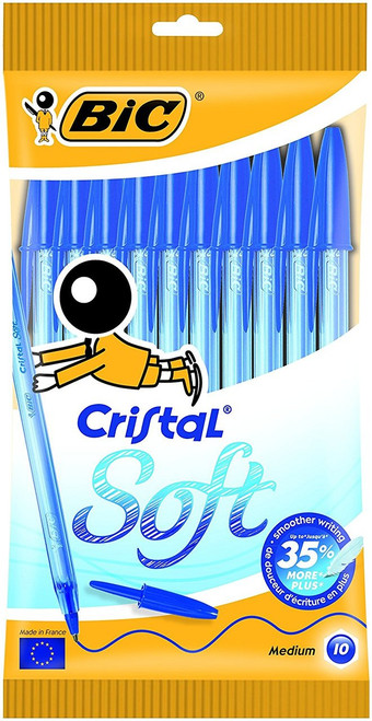 Pen - BIC® Round Stic® Ballpoint Pens - BLUE Ink - Pack Of 10