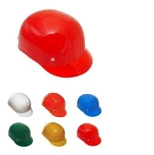 Ideal for protecting head from lacerations, minor bumps and bruises in areas that do not require certified safety helmets.   4-point injection-molded suspension.   Adjusts from head sizes 6.5 - 7.75.   Does not meet ANSI/ISEA Z89.1 requirements.  Order in cases of 12, available in several popular colors