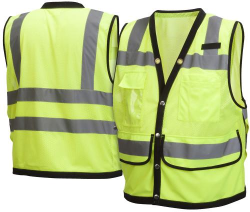 Surveyors Vest - Class 2 Hi-Vis Lime/Orange Safety Vest