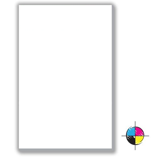 """5 1/2"""" x 8 1/4"""" Value Full-Color Notepads - 25 Sheets - 250 Units"""