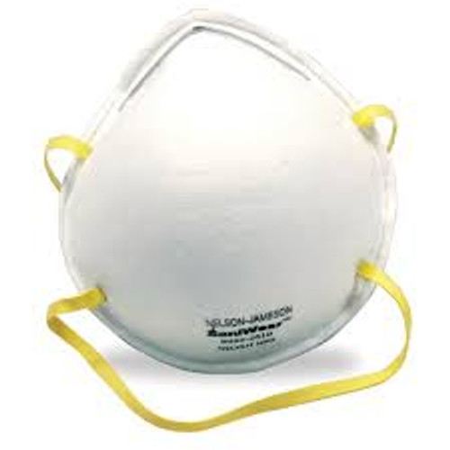 N95 Cone Mask Features N95 Rated Meets guidelines from NIOSH and CDC to protect against H1N1 Swine Flu   Metal Nose piece With Foam Pad Latex and fiberglass free Particulate filtration efficiency at 95%  20 N95 Masks per box