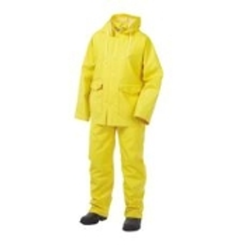 .35mm 3pc Vinyl Rain Suit   3 Piece Classic Rain Suit is industry standard grade PVC and polyester materials comes complete with bib pants, jacket, and detachable hood