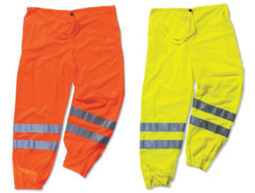"Class ""E"" Reflective Pants - Universal Size - Lime - Up to a 53"" waist"