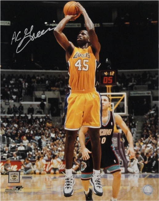 AC A.C. Green Hand Signed Autographed 16x20 Signed LA Lakers Photo Jump Shot UDA