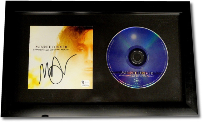 Minnie Driver Hand Signed Autographed Framed CD Cover Everything I got w/ CD GA