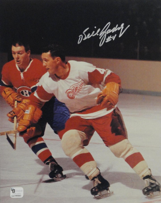 Bill Gadsby Hand Signed Autographed 8x10 Photo Detroit Red Wings GAI