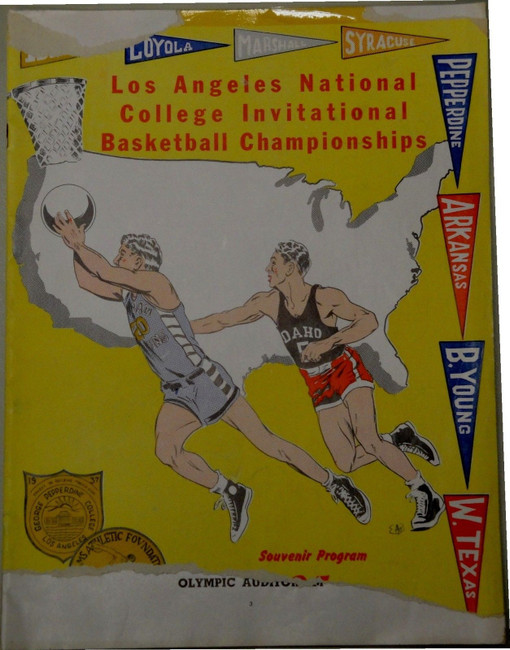 1947 Los Angeles National College Invitational Basketball Championship Program