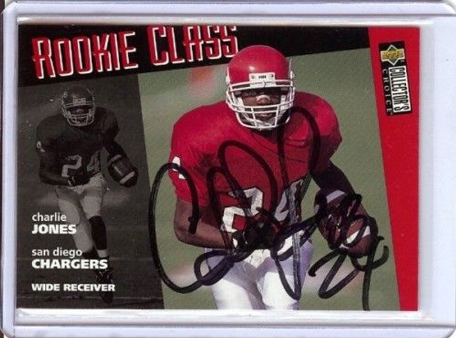 Charlie Jones 96 Collectors Choice Card Auto Autograph