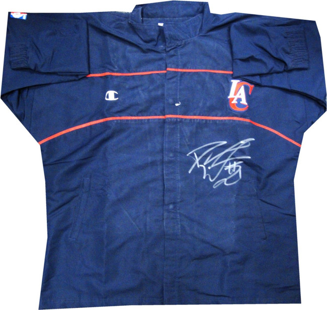 Darius Miles Los Angeles Clippers Signed GAME USED Warm Up Jacket RARE Size 52