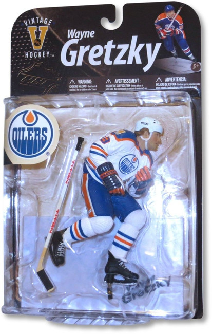 Wayne Gretzky McFarlane Legends Series 8 Figure Oilers White Chase Variant