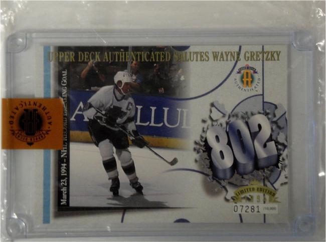 "Wayne Gretzky NHL Hockey Collectors 3""x5"" Jumbo 802 Trading Card King 7281/10000"