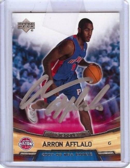 Arron Afflalo 2007-08 Ud Rookie Box Set #1 Auto Silver