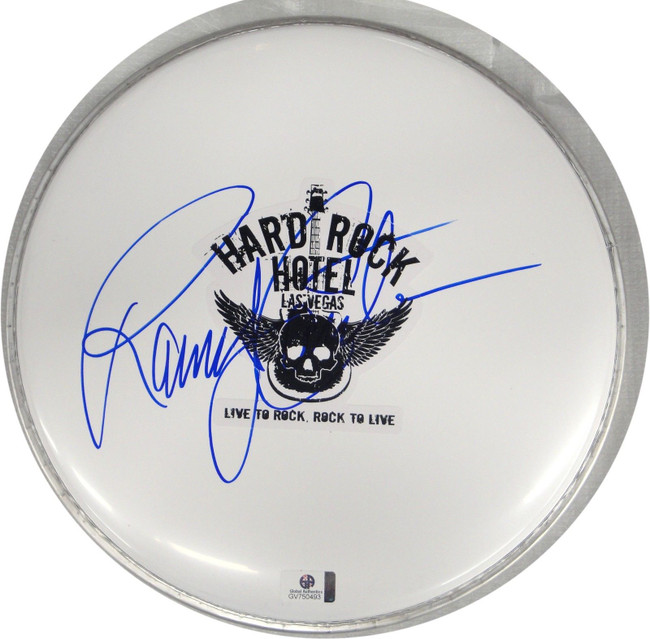 Randy Couture Hand Signed Autographed 10 Inch Drumhead UFC GA 750493
