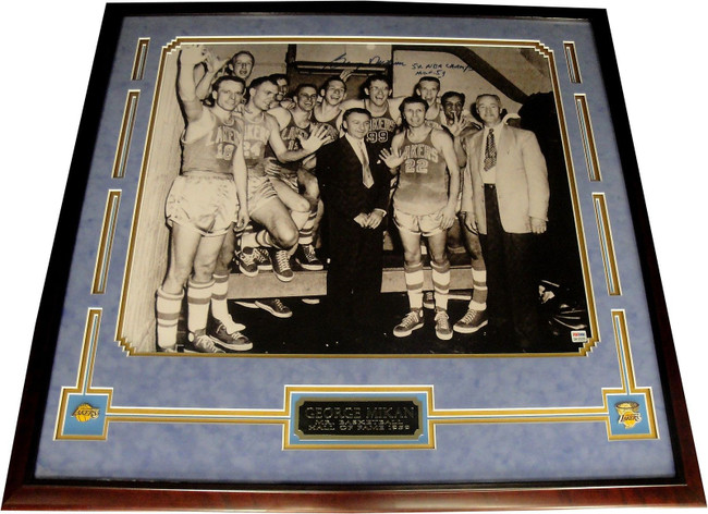George Mikan Hand Signed Autographed 18x24 Photo Custom Framed MPLS Lakers