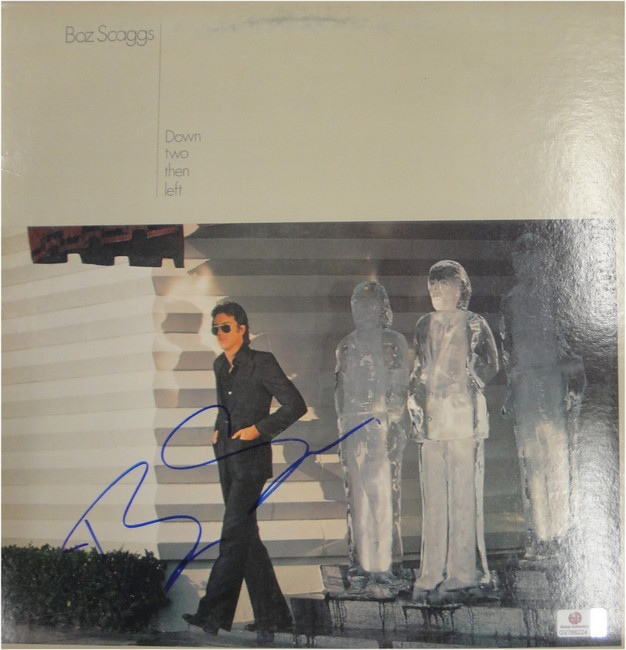 Boz Scaggs Hand Signed Autographed Record Cover Down Two Then Left  JSA U15366