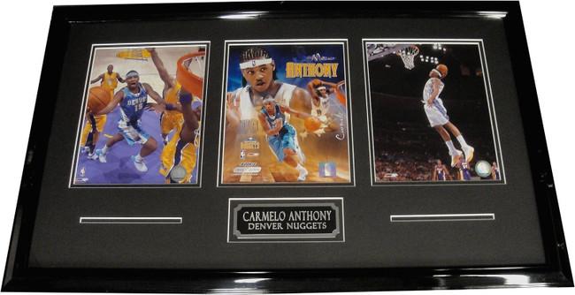 Carmelo Anthony UnSigned Three 8x10 Photos Custom Framed Denver Nuggets