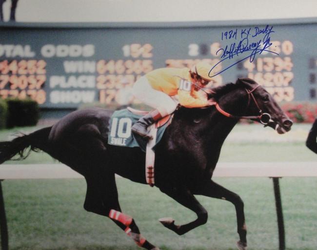 Laffit Pincay Jr Signed Autograph 16x20 Photograph Kentucky Derby Winner 1984
