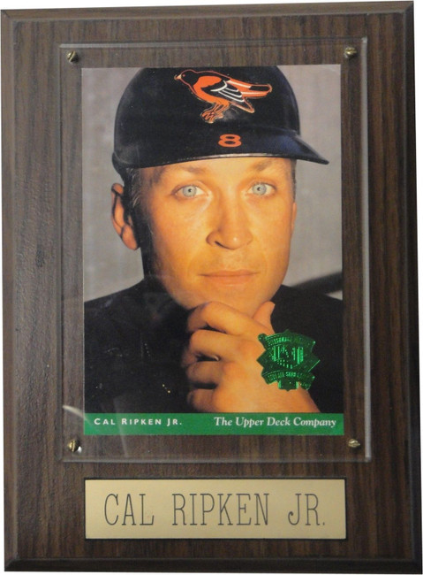 Cal Ripken Jr Commemorative Trading Card and Plaque With Free shipping