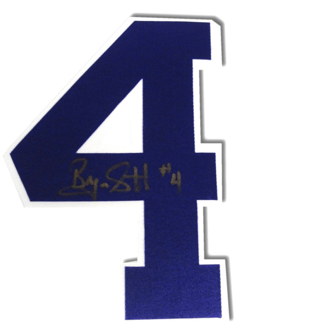 Byron Scott Signed Autographed Purple #4 Jersey #4 Only Los Angeles Lakers COA