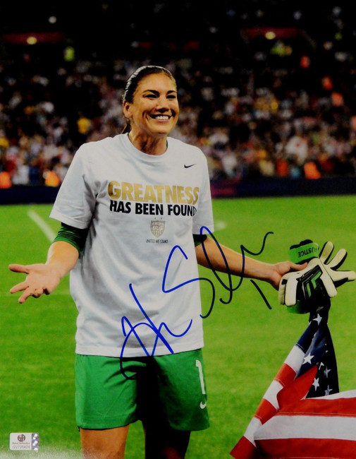 Hope Solo Signed Autographed Jumbo 11x14  Photo GA USA 2012 Olympic Gold 728424