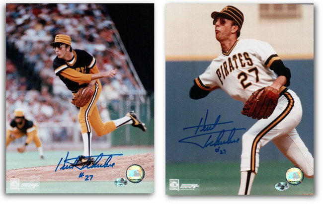 2 Different Kent Tekulve Signed 8X10 Photo Autograph Pittsburgh Pirates w/COA