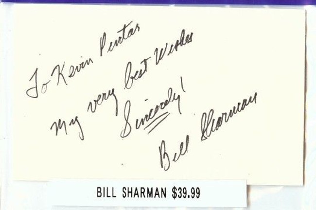 Bill Sharman Signed Index Card Auto Autograph Celtics