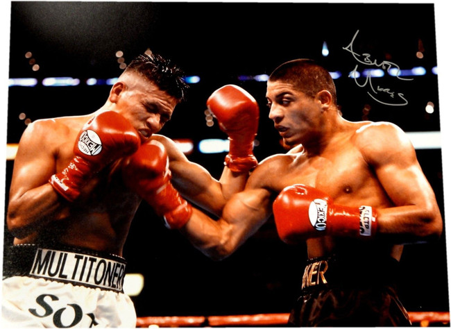Abner Mares Hand Signed Autograph 16x20 Photo Throwing Big Punch Biceps W/ COA