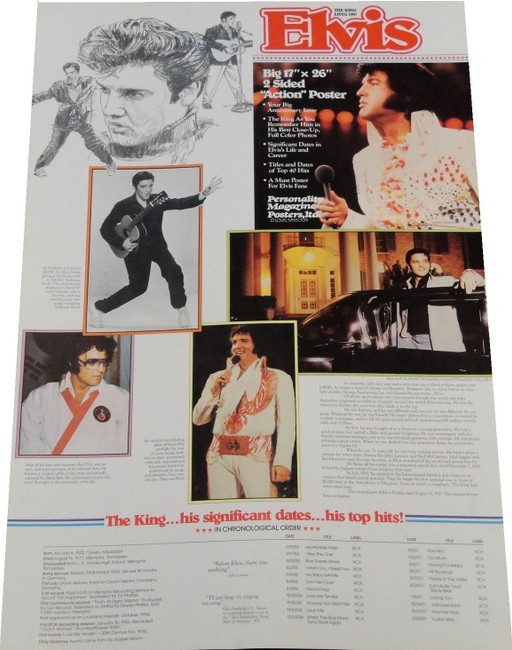 Elvis Presley 17x26 Life Long Collage Brand New The King is Here! Brand New