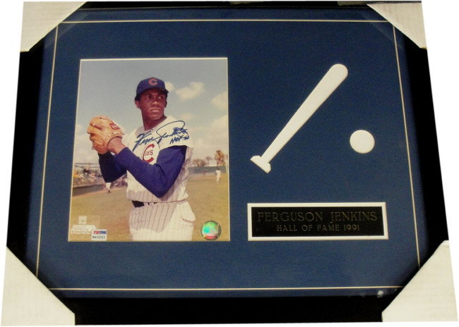 Fergie Jenkins Hand Signed Autographed 8x10 Photo Custom Framed  Chicago Cubs