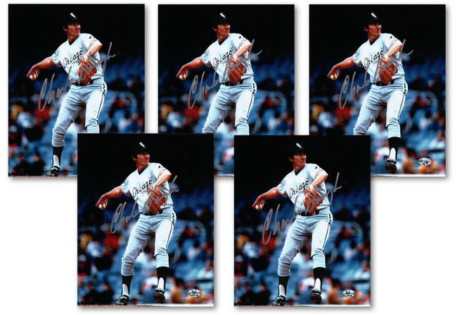 5 Count Lot Charlie Hough Signed 8X10 Photos Chicago White Sox Auto w/COA Silver
