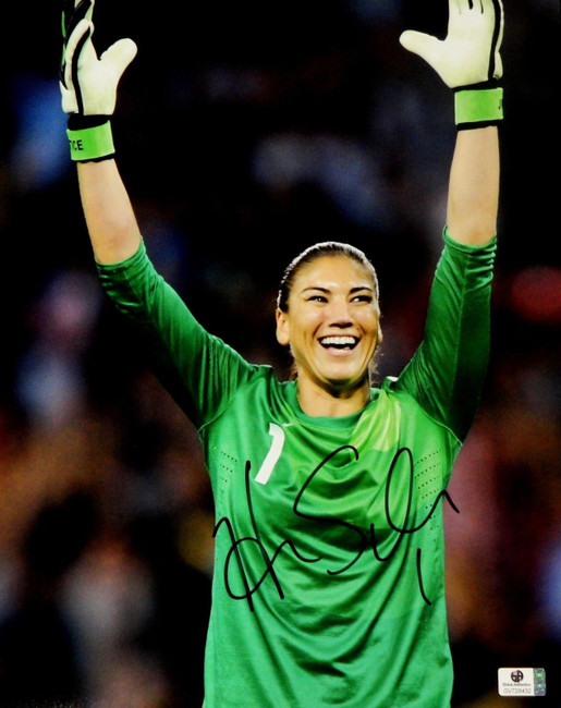 Hope Solo Signed Autographed Jumbo 11x14  Photo GA USA 2012 Olympic Gold 728432