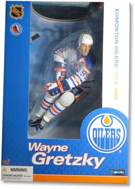 "Wayne Gretzky McFarlane Legends 12"" Figure Edmonton Oilers White Jersey"