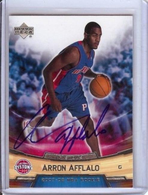 Arron Afflalo 2007-08 Ud Rookie Box Set #1 Auto Blue