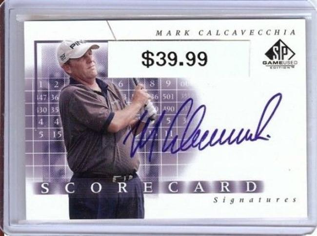 Mark Calcavecchia 2002 Sp Game Used Scorecard Auto