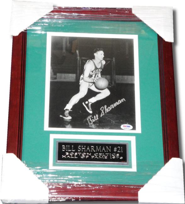 Bill Sharman Hand Signed Autographed 8x10 Photograph Custom Framed PSA/DNA