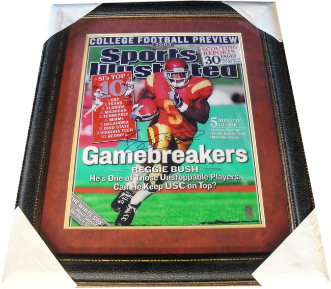 Reggie Bush Hand Signed Autographed 16x20 Photo Custom Framed USC Trojans HOLO