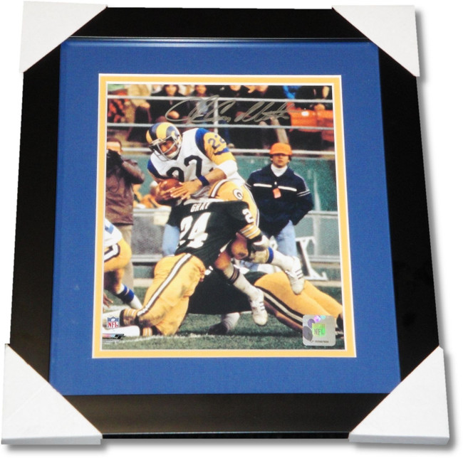 John Cappelletti Hand Signed Autograph Custom Framed 8x10 Photo LA Rams W/ COA