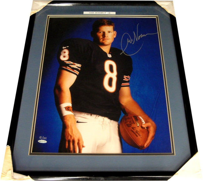 Cade McNown Hand Signed Autographed 16x20 Photo Custom Framed UDA