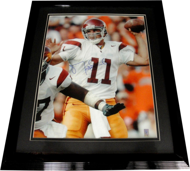Matt Leinart Hand Signed Autographed 16x20 Photo USC Trojans Custom Framed