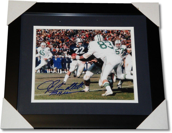 John Cappelletti Hand Signed Autograph Custom Framed 8x10 Photo 1973 W/ COA