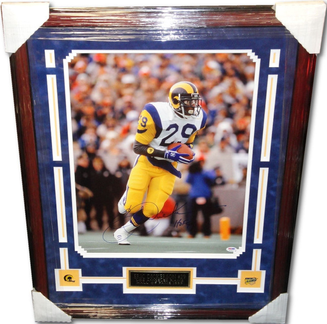 Eric Dickerson Hand Signed Autographed Custom Framed 16x20 Photograph PSA/DNA