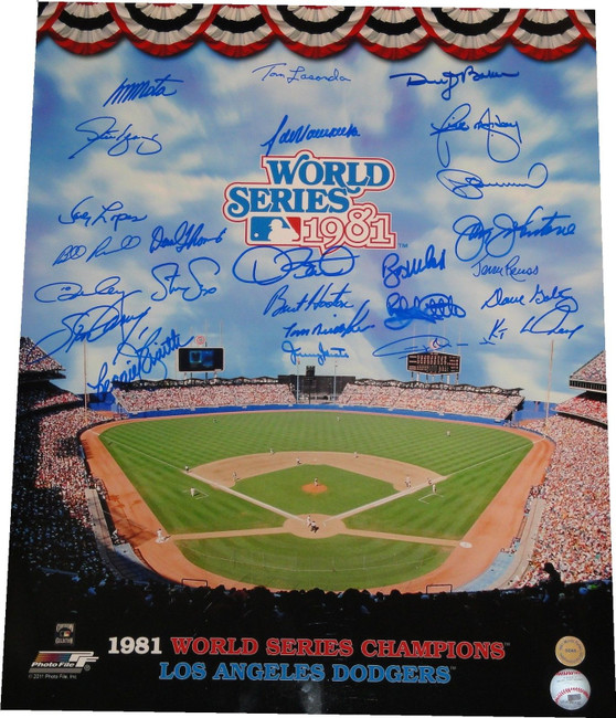 1981 World Series Dodgers Team Signed Autograph 16x20 Photo Smith Monday 46/81
