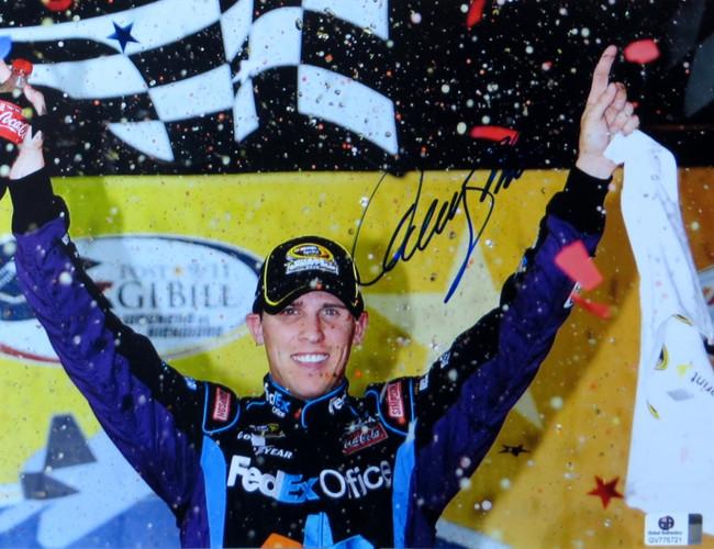 Denny Hamlin Signed Autographed 8.5X11 Photo Nascar Win Celebration GV775721