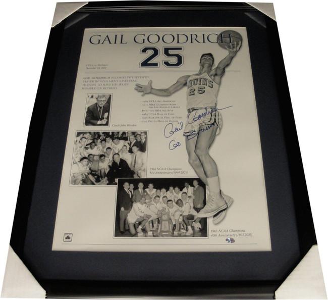 "Gail Goodrich Hand Signed Autograph 18""x24"" Photo Custom Framed UCLA Bruins COA"