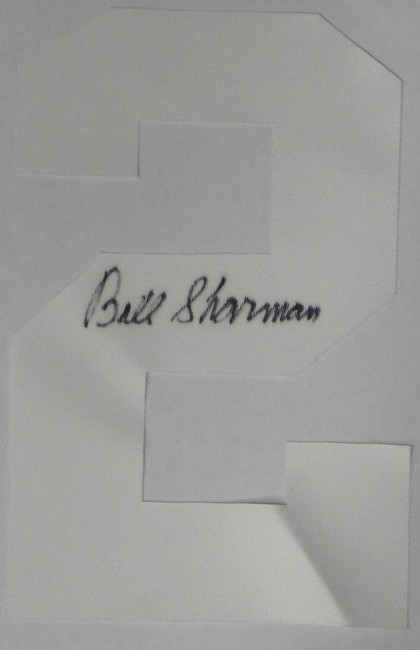 Bill Sharman Hand Signed Autographed Jersey # 2 Only. Just #2 White COA Celtics
